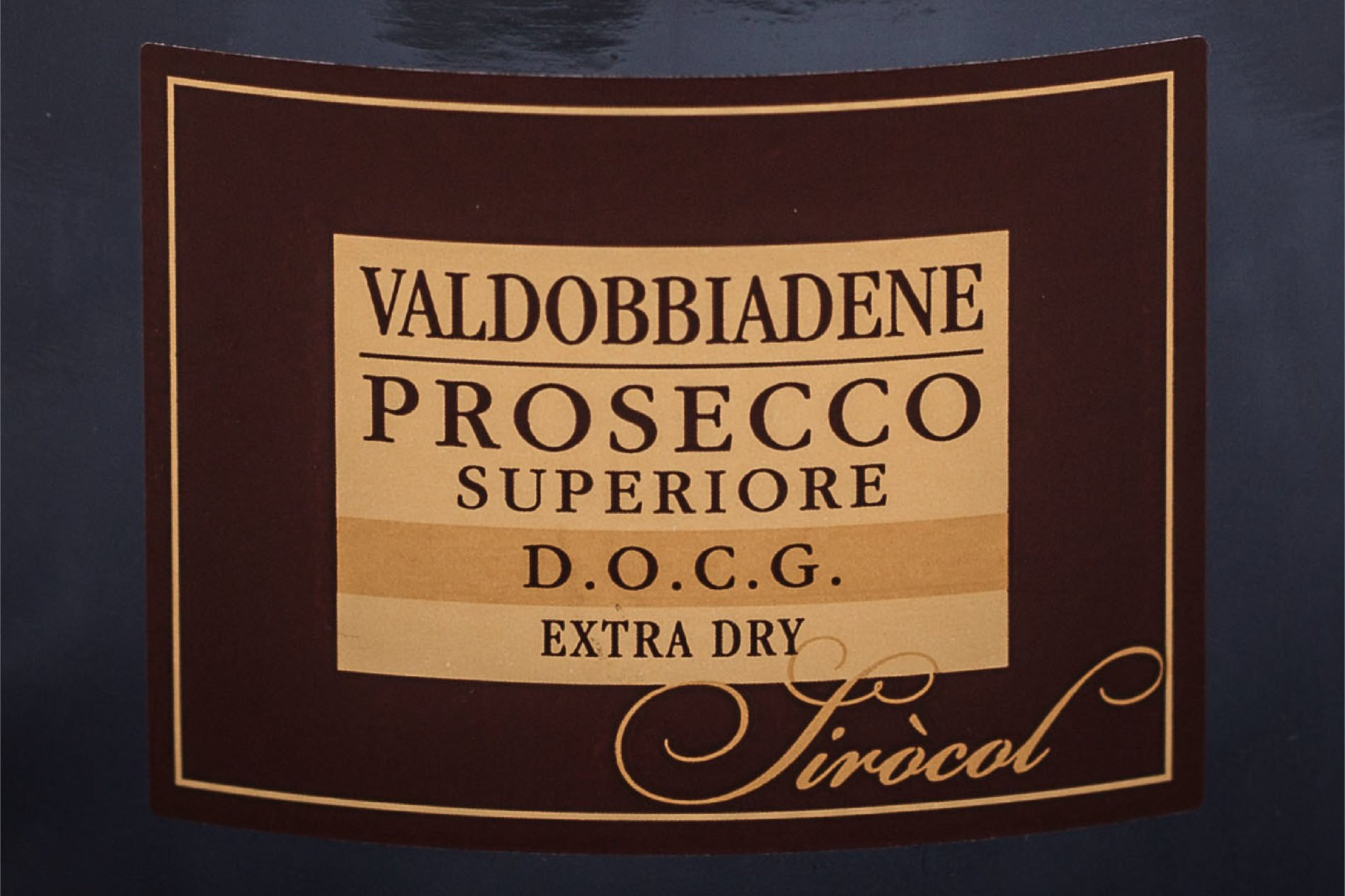 Image of vintage prosecco label